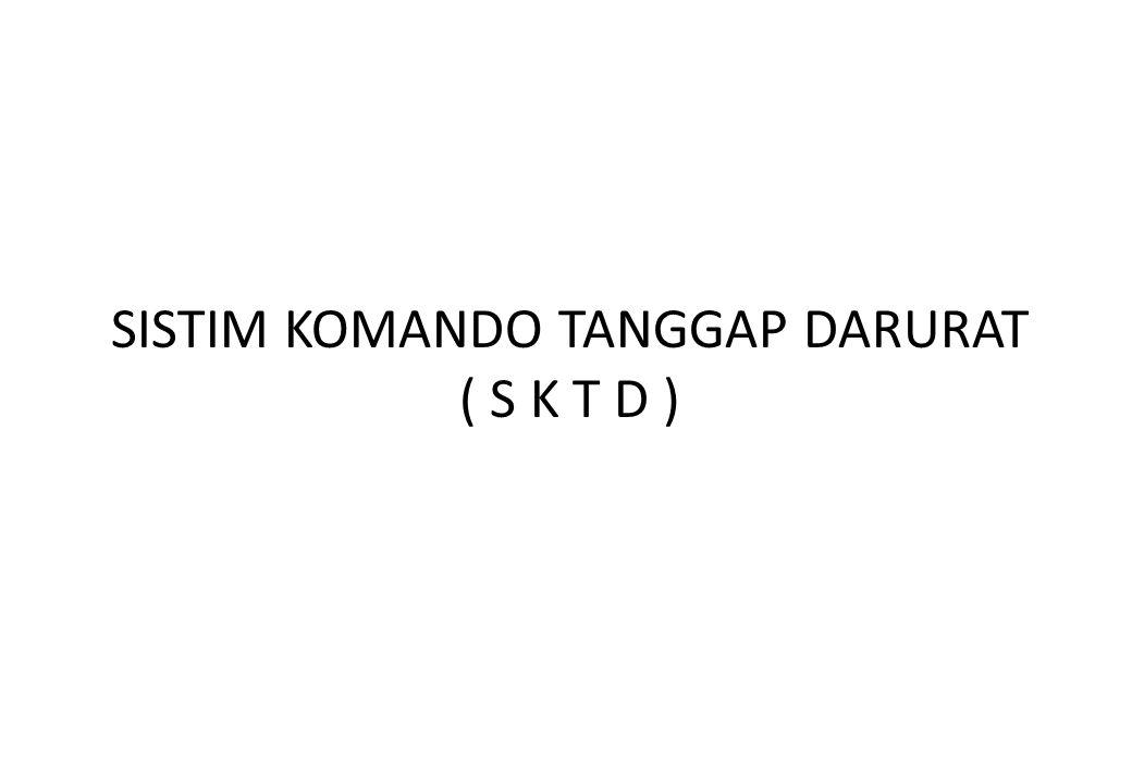 SISTIM KOMANDO TANGGAP DARURAT ( S K T D )