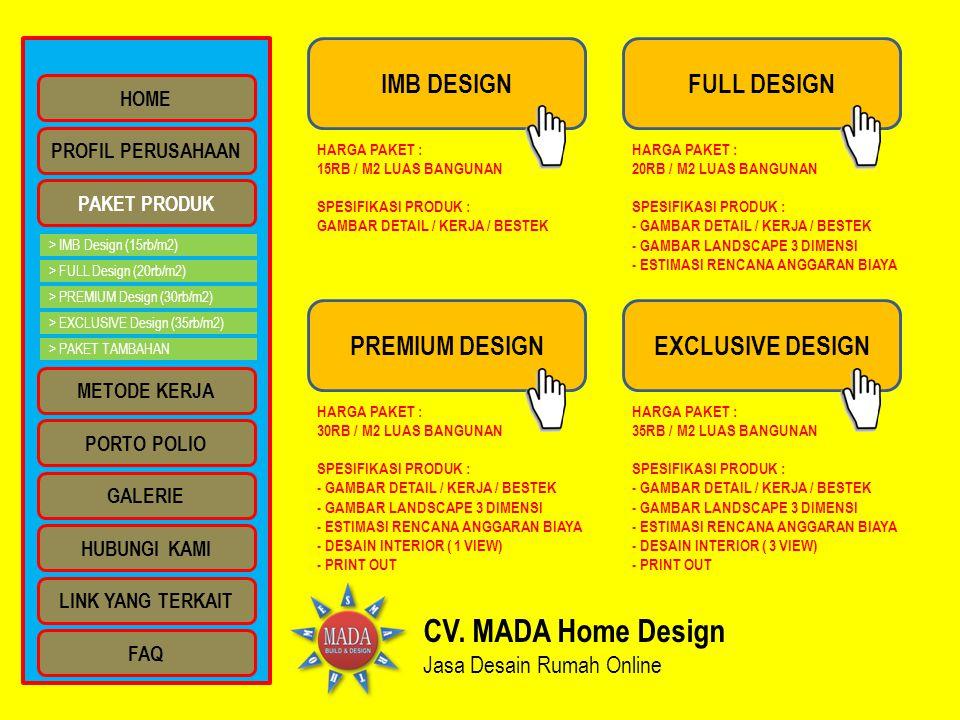 CV.MADA Home Design Jasa Desain Rumah Online CV.