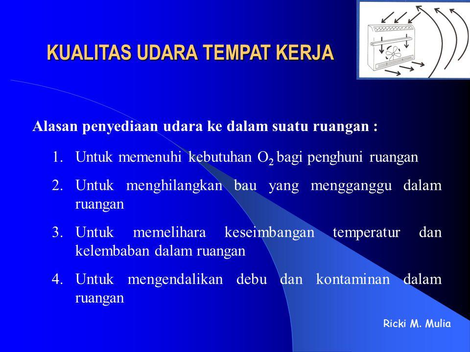 VENTILASI INDUSTRI 1.Ventilasi Umum (General Ventilation) : Ricki M.