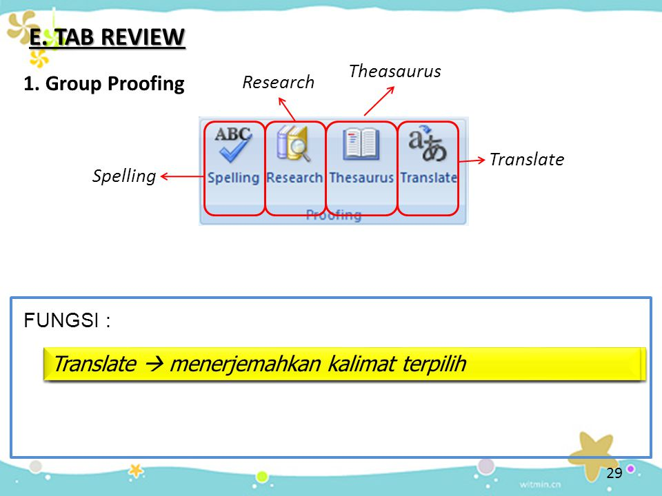 29 E.TAB REVIEW 1.