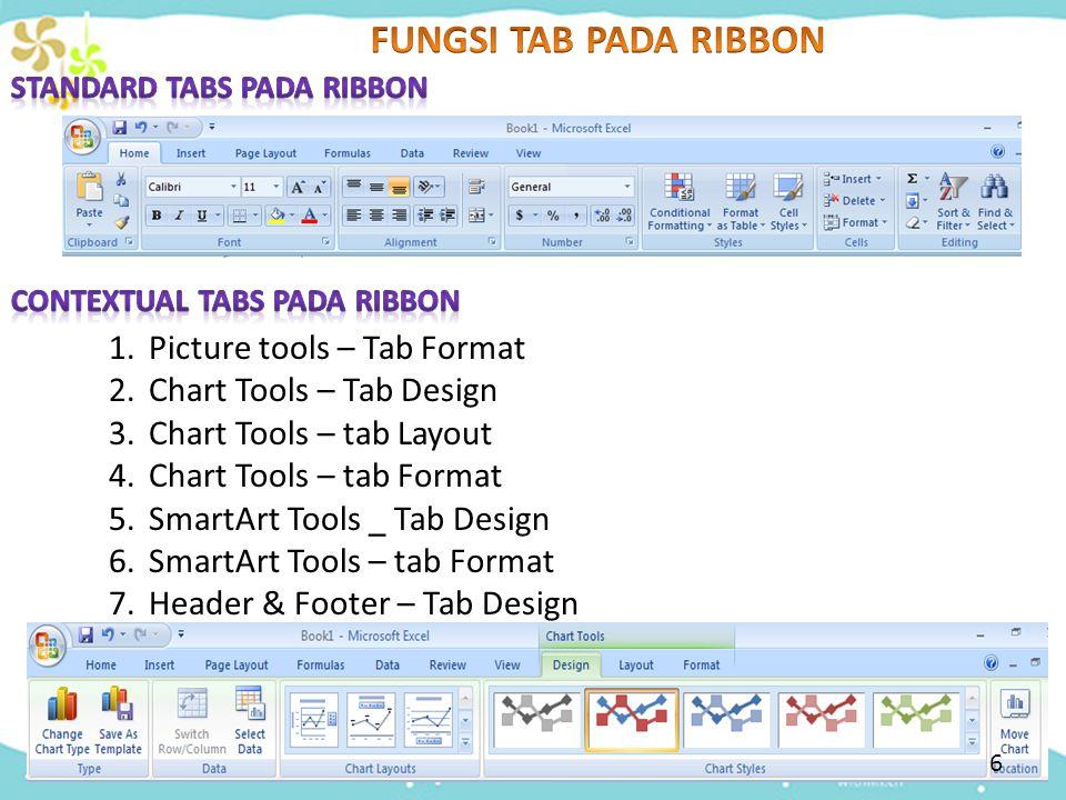 37 Tugas Kelompok Buat 4 kelompok @6 orang Carilah fungsi contextual tab ribbon berikut ini : 1.Picture Tools  Tab Format dan WordArt Tools  Tab Format 2.Chart Tools  Tab Design dan Chart tools  Tab Format 3.Chart Tools  Tab layout dan Header & Footer  tab Design 4.Smart Art Tools  tab Format dan smartArt tools  tab design