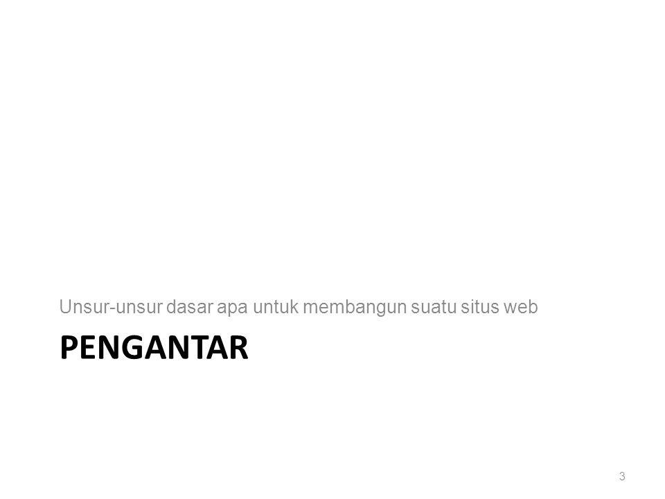 PENGANTAR Unsur-unsur dasar apa untuk membangun suatu situs web 3