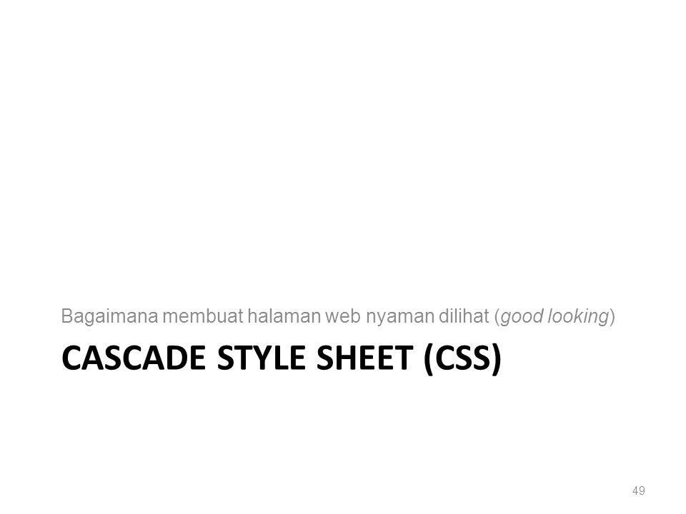 CASCADE STYLE SHEET (CSS) Bagaimana membuat halaman web nyaman dilihat (good looking) 49