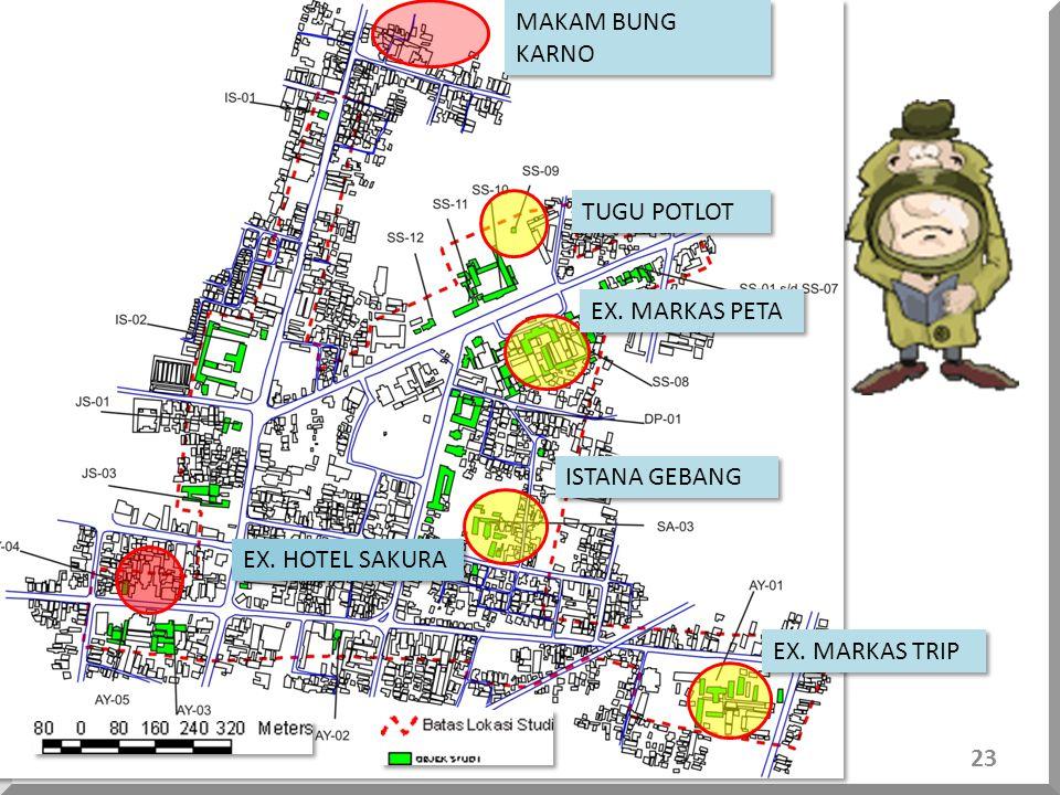 JL. SHODANCO SUPRIYADI 7 Rumah Tinggal 3 Komplek sekolah 1 Komplek kerohanian 1 Tugu peringatan 7 Rumah Tinggal 3 Komplek sekolah 1 Komplek kerohanian