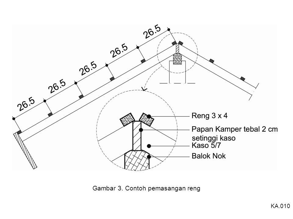 Gambar 3. Contoh pemasangan reng KA.010