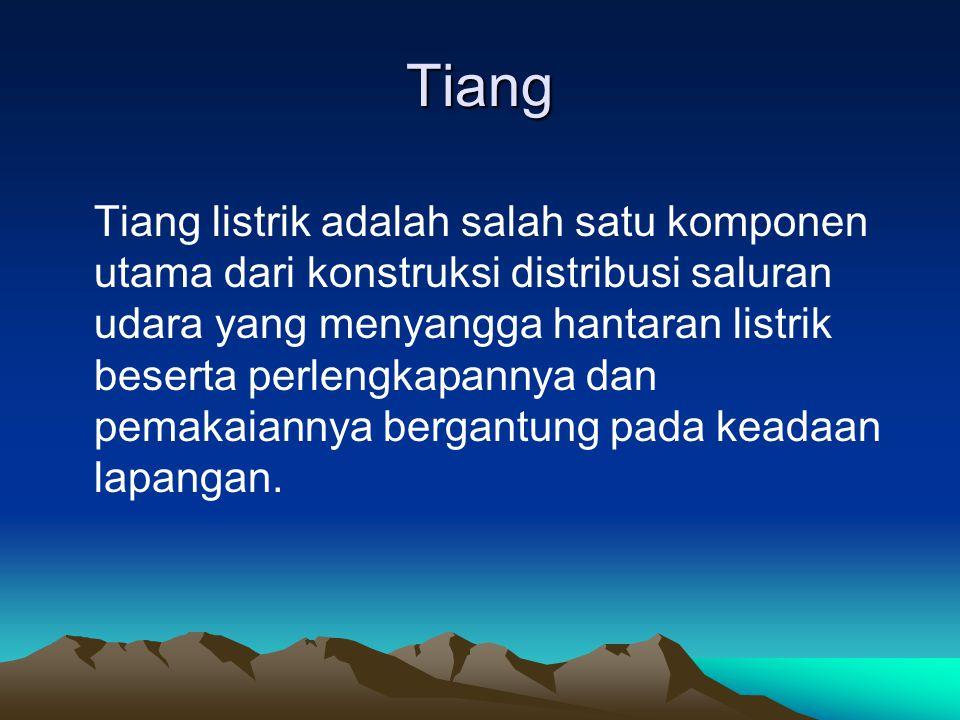 Spesifikasi Tiang