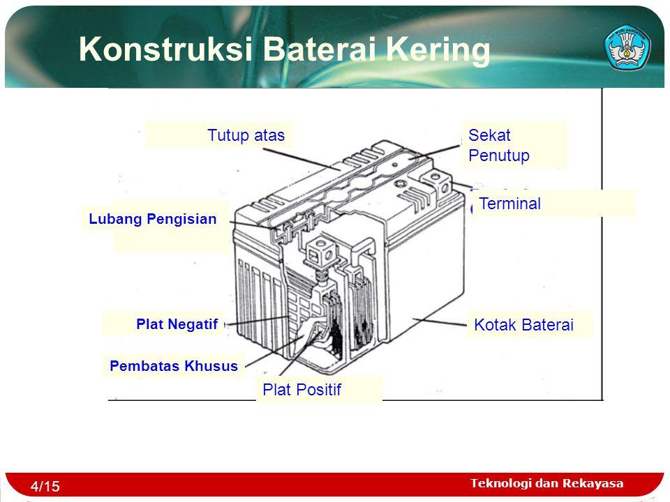Teknologi dan Rekayasa Konstruksi Baterai Kering Tutup atas Plat Positif Lubang Pengisian Plat Negatif Pembatas Khusus Kotak Baterai Terminal Sekat Pe