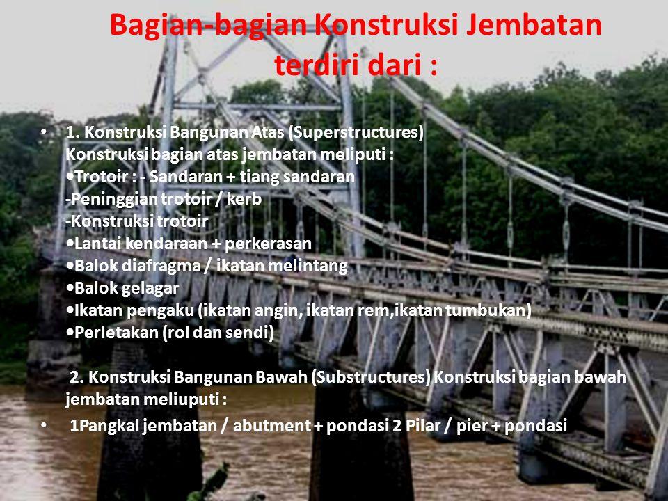 Bagian-bagian Konstruksi Jembatan terdiri dari : • 1.