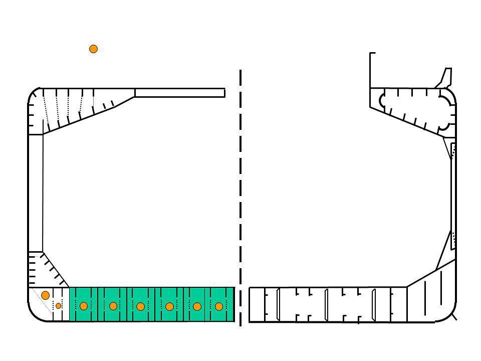 No. 9 No. 8 No. 7 No. 6 No. 5 No. 4 No. 3 No. 2 No. 1 E.R. F.P KAPAL PENGANGKUT OBO ( ORE, BULK, OIL ) Penampang Melintang pada bagian tengah kapal Me