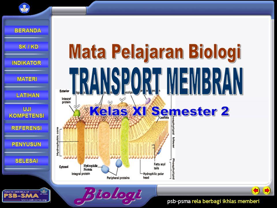 psb-psma rela berbagi ikhlas memberi Transpor aktif terjadi dengan cara membawa molekul melawan gradian konsentrasi Transpor aktif terbagi 3 1.Pompa ion 2.Kotranspor 3.endositosis Materi