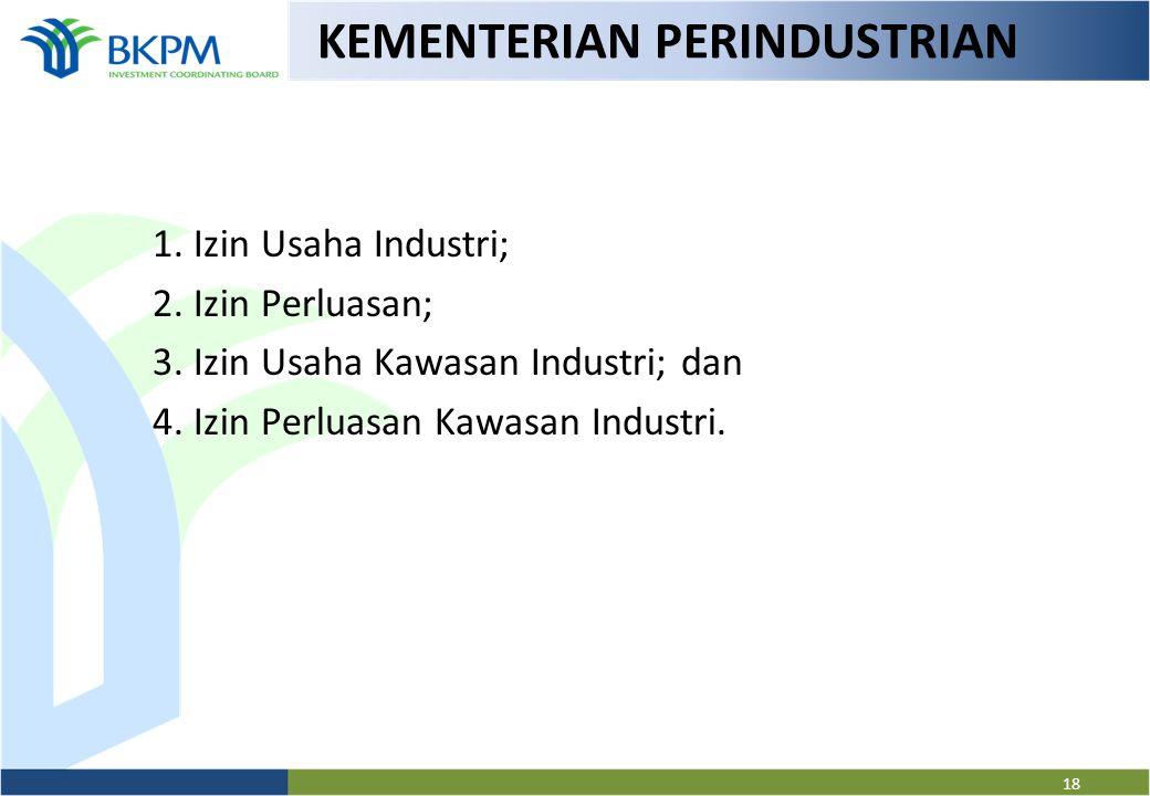 KEMENTERIAN PERTANIAN 1. Izin Usaha Tanaman Pangan Proses Produksi (IUTP-P); 2. Izin Usaha Hortikultura (IUH); 3. Izin Usaha Perkebunan (IUP); 4. Izin