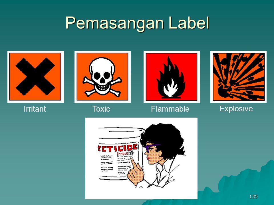 Keselamatan Dan Kesehatan Kerja 135 Pemasangan Label Explosive FlammableToxicIrritant