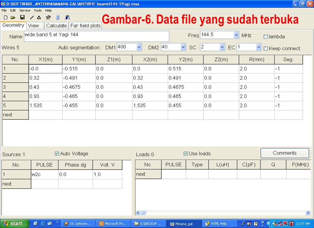 Sulwan Dase-YB8EIPMakassar Digimode Club15 Gambar-6. Data file yang sudah terbuka