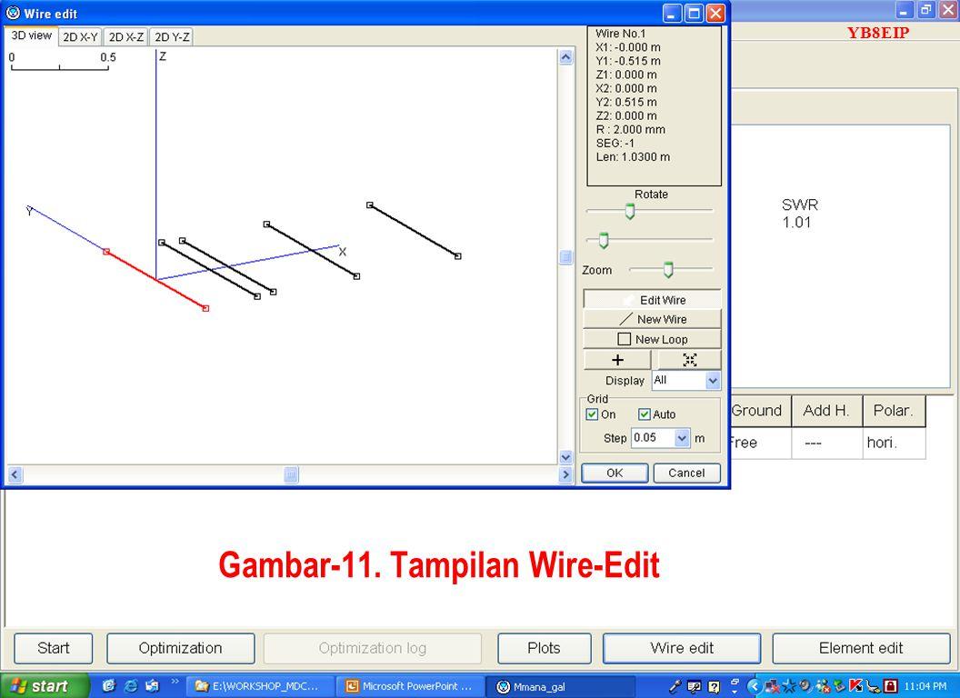 Sulwan Dase-YB8EIPMakassar Digimode Club22 Gambar-11. Tampilan Wire-Edit YB8EIP