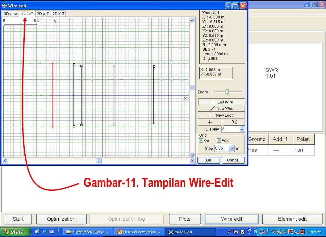 Sulwan Dase-YB8EIPMakassar Digimode Club24 Gambar-11. Tampilan Wire-Edit