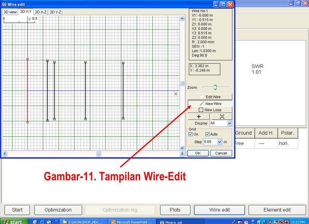 Sulwan Dase-YB8EIPMakassar Digimode Club25 Gambar-11. Tampilan Wire-Edit