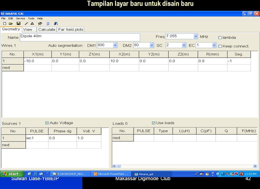 Sulwan Dase-YB8EIPMakassar Digimode Club42 Tampilan layar baru untuk disain baru