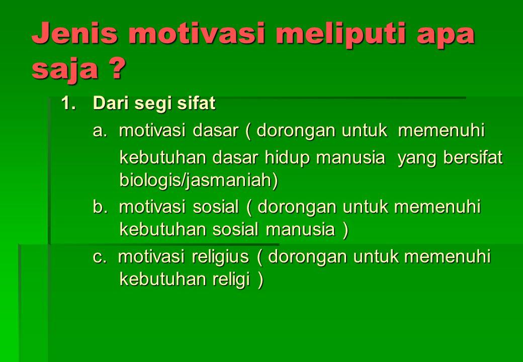APA URGENSI MOTIVASI BAGI KEPENTINGAN BELAJAR ? 1. Motivasi menentukan arah tindakan seseorang dalam belajar ( analogi seperti kemudi mobil) 2.Motivas