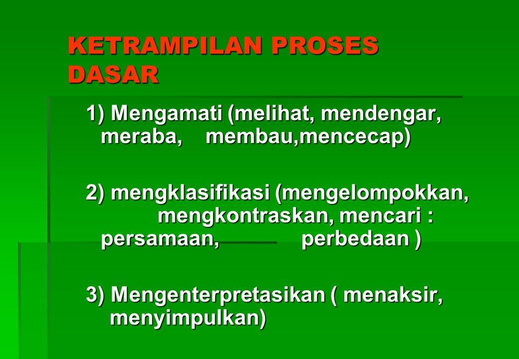 Lanjutan PKP Lanjutan PKP 2. Macam Ketrampilan Proses a. Ketrampilan dasar a. Ketrampilan dasar b. ketrampilan lanjut (integratif) b. ketrampilan lanj