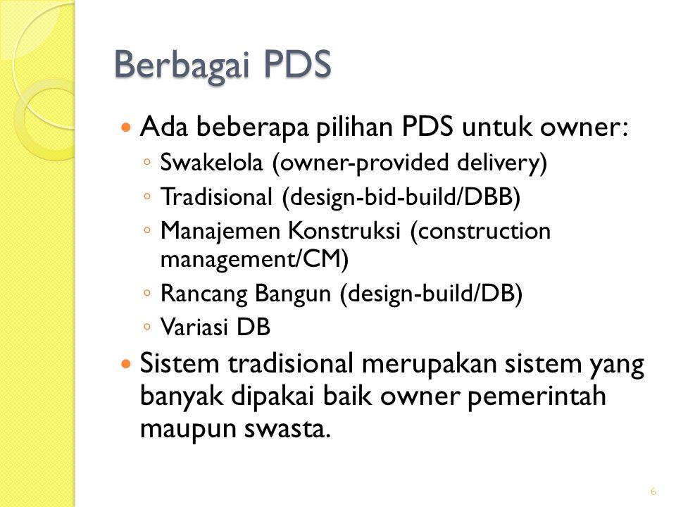 Rancang-Bangun (DB) 2  Biasanya pemilihan design-builder dilakukan dengan pra-kualifikasi terlebih dahulu untuk mendapatkan daftar calon yang memenuhi kualifikasi tertentu, seperti pengalaman, reputasi, sumber dana, upaya lain yang terkait kesuksesan DB.