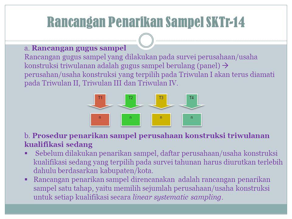 Rancangan Penarikan Sampel SKTr-14 a.
