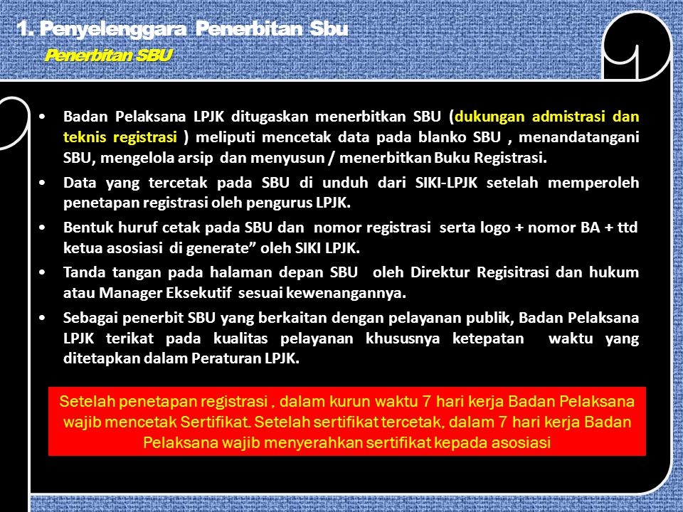 Penerbitan SBU 1.