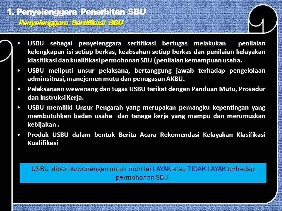 Penyelenggara Sertifikasi SBU 1.