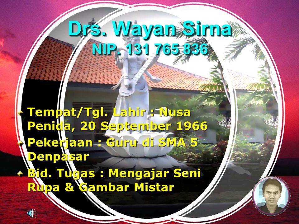 Drs.Wayan Sirna NIP. 131 765 836 Tempat/Tgl.