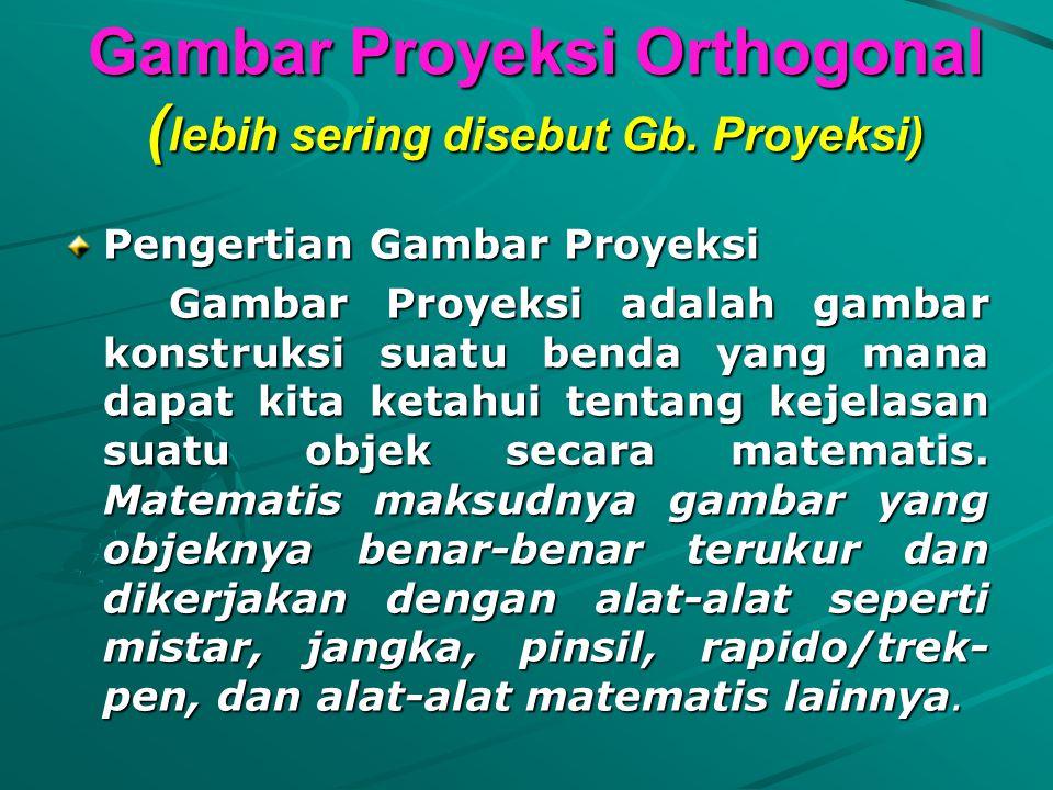 Gambar Proyeksi Orthogonal ( lebih sering disebut Gb.