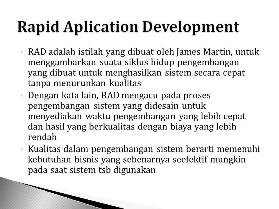  Merupakan gabungan pengembangan SDLC Tradisional, Prototipe dan RAD  SDLC memberikan kontribusi tahap urutan logis  Prototipe memberikan kontribusi metode umpan balik terhadap pengguna untuk mengetahui apa yang dibutuhkanya  RAD memberikan kontribusi mengenai pemahaman bahwa keterlibatan pengguna lebih dari sekedar merespon prototipe, tetapi juga terlibat dalam pengembangan sistem.