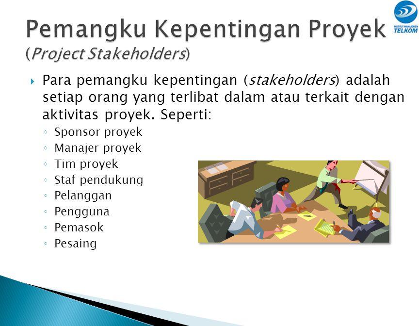  Bertugas mengelola aktivitas yang bersifat sementara dan tidak berulang (non-repetitive): ◦ Mengatur sumber daya proyek ◦ Memberi pengarahan, koordi