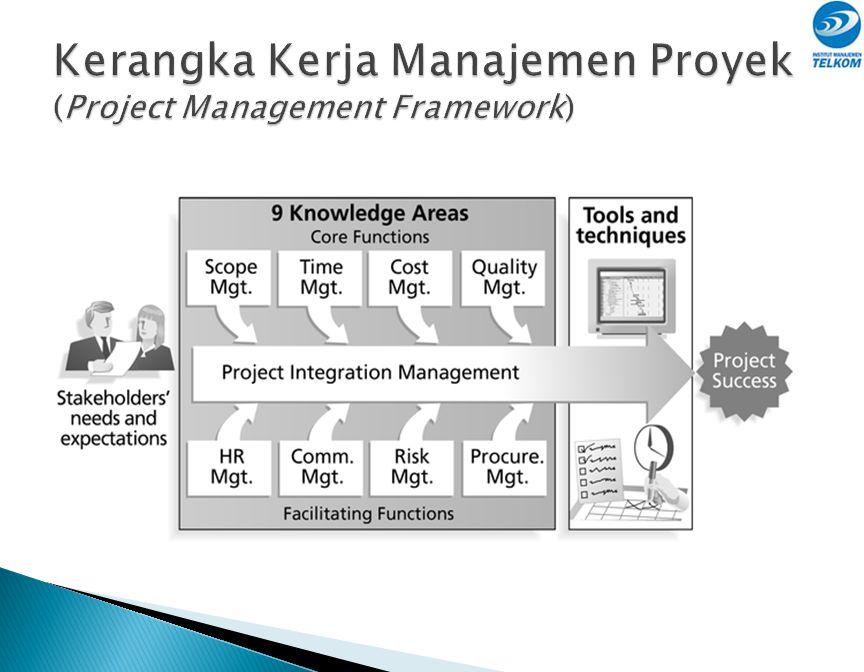 Manajemen Proyek merupakan penerapan pengetahuan, keahlian, peralatan, dan teknik dalam pengelolaan aktivitas proyek untuk memenuhi tuntutan proyek.