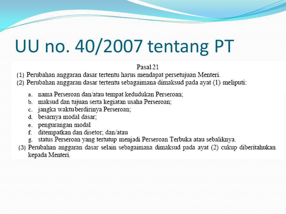 UU no. 40/2007 tentang PT