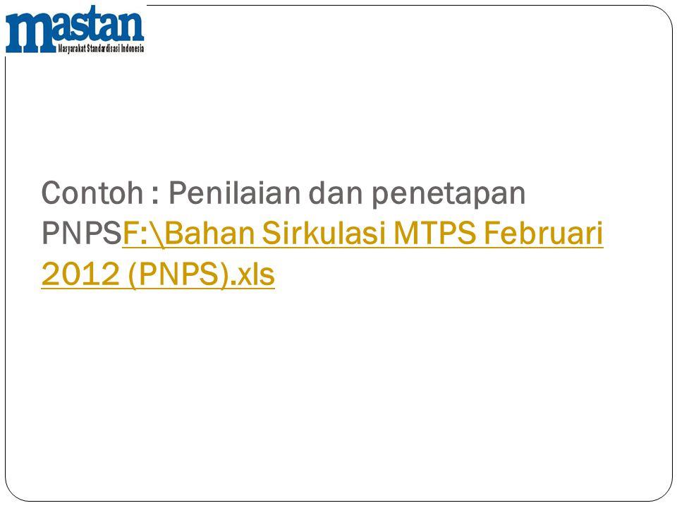 Contoh : Penilaian dan penetapan PNPSF:\Bahan Sirkulasi MTPS Februari 2012 (PNPS).xlsF:\Bahan Sirkulasi MTPS Februari 2012 (PNPS).xls