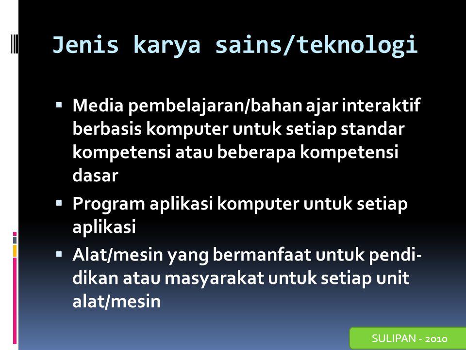 SULIPAN - 2010 Format Laporan Sains/Teknologi berupa Eksperimen/Percobaan Sains/Teknologi  Halaman judul  Halaman pengesahan oleh kepala sekolah.