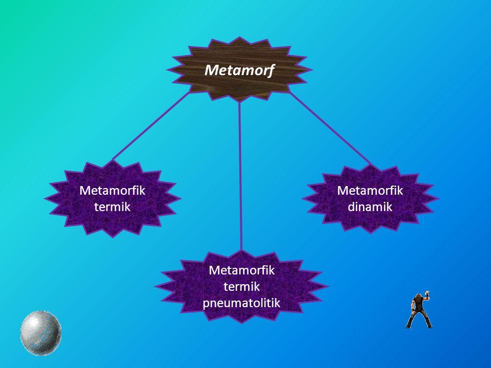 Metamorfik termik Metamorf Metamorfik dinamik Metamorfik termik pneumatolitik
