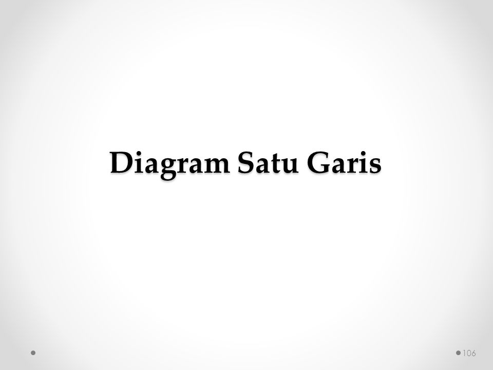 Diagram Satu Garis 106