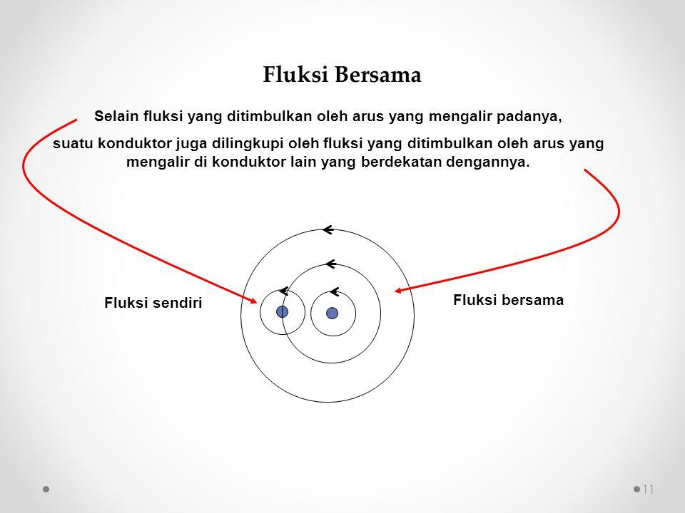 Selain fluksi yang ditimbulkan oleh arus yang mengalir padanya, suatu konduktor juga dilingkupi oleh fluksi yang ditimbulkan oleh arus yang mengalir d