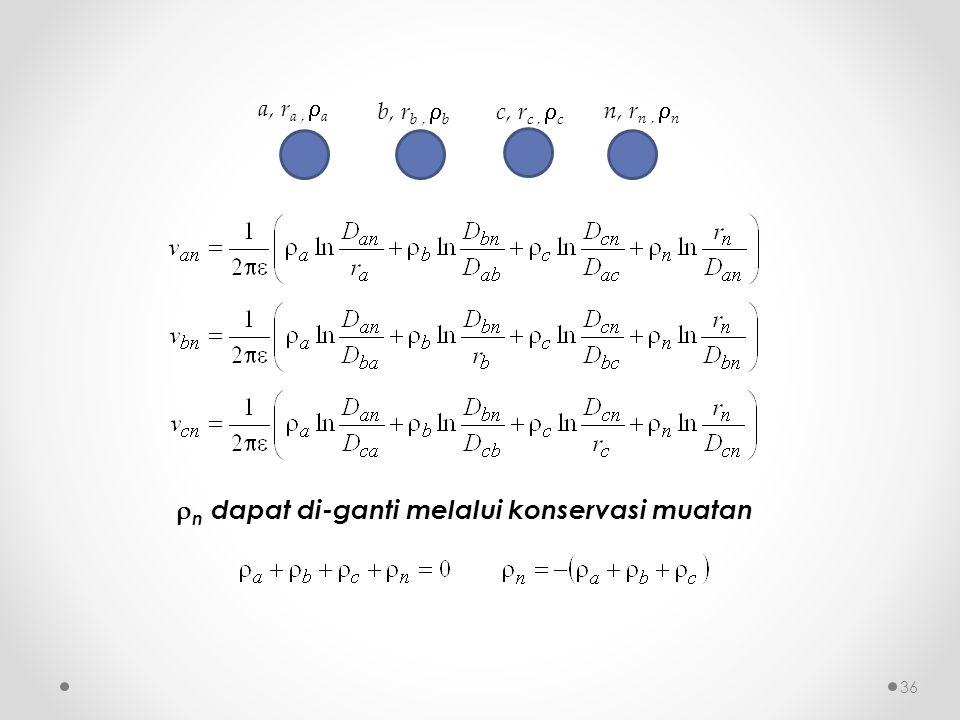 c, r c,  c b, r b,  b a, r a,  a n, r n,  n  n dapat di-ganti melalui konservasi muatan 36