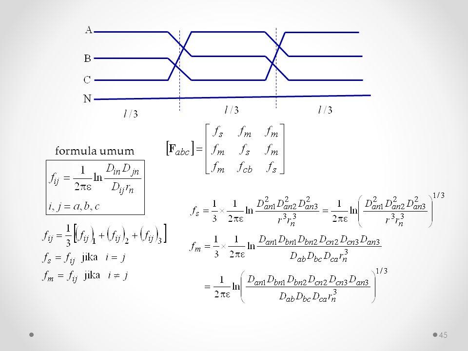 formula umum 45