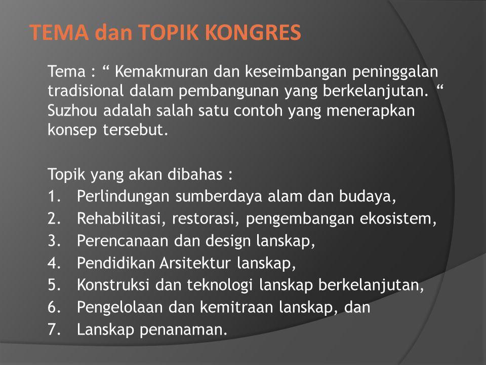 Tema : Kemakmuran dan keseimbangan peninggalan tradisional dalam pembangunan yang berkelanjutan.