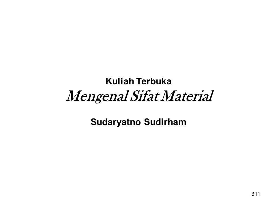 Kuliah Terbuka Mengenal Sifat Material Sudaryatno Sudirham 311