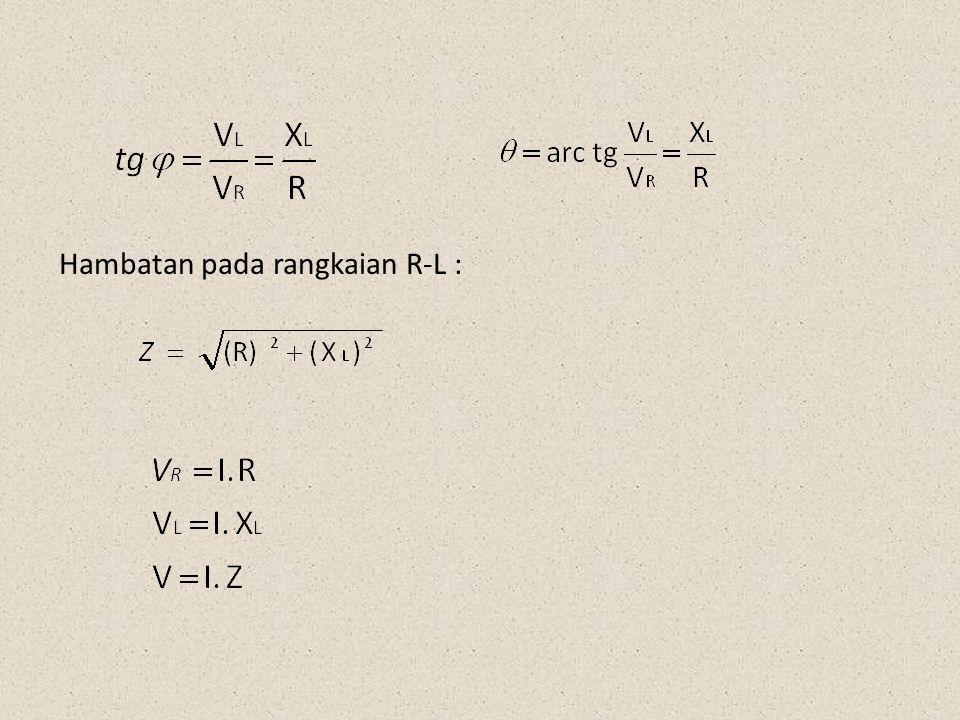 5.Rangkaian seri R-C pada arus AC Resistor dan Kapasitor dihubungkan ke sumber arus AC, maka pada rangkaian R-C tersebut akan timbul hambatan yang merupakan paduan antara X c dan R.