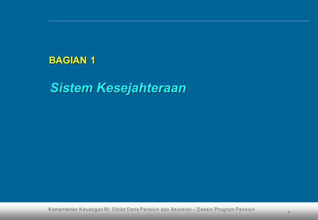 Kementerian Keuangan RI: Diklat Dana Pensiun dan Asuransi – Desain Program Pensiun 36 BAGIAN 4 BAGIAN 4 (lanjutan)  Dalam hal ingin diintegrasikan dengan UUK-13, perlu melakukan komunikasi dan mencapai kesepakatan dengan karyawan perihal pembayaran bulanan dan penundaan penerimaan manfaat (karena diselenggarakan melalui dana pensiun) Rancangan Intergrasi ketentuan: dengan UUK-13 (4)