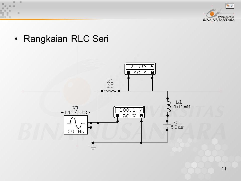 11 •Rangkaian RLC Seri