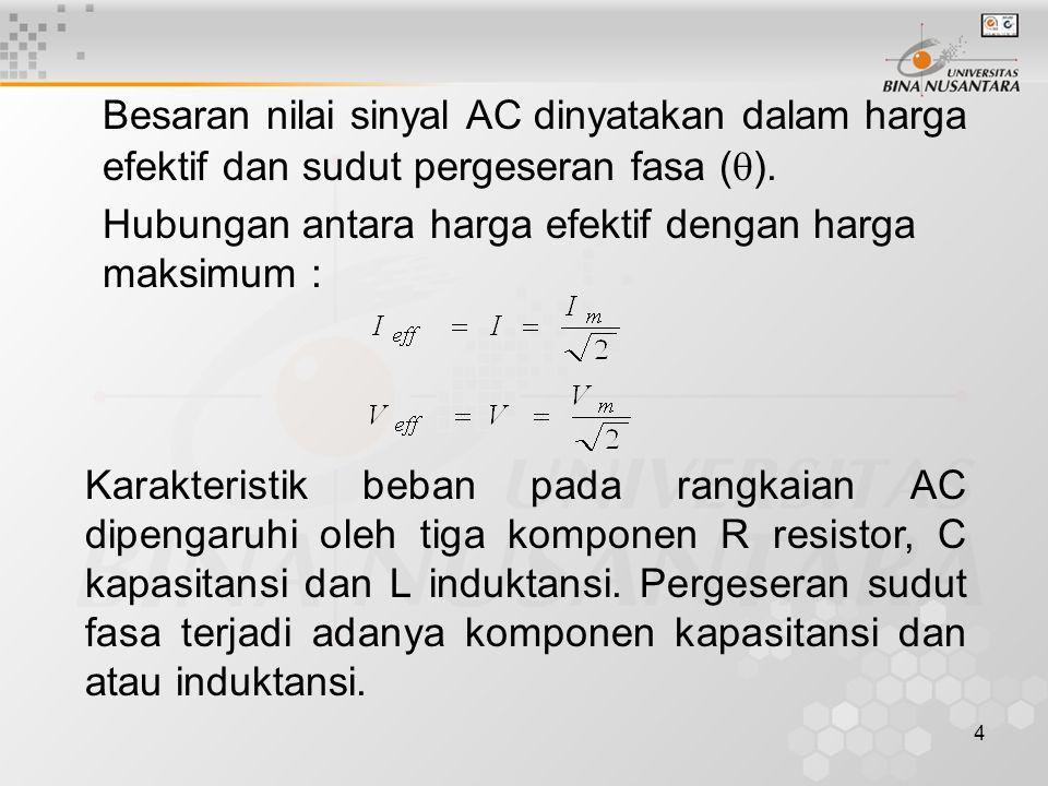 5 •Analisis Fasor Analisis dalam rangkaian AC lebih kompleks dibandingkan dengan rangkaian DC.