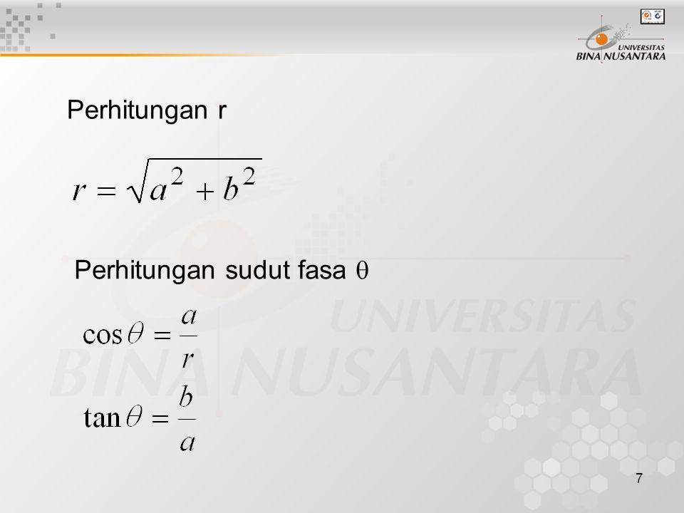 7 Perhitungan r Perhitungan sudut fasa 