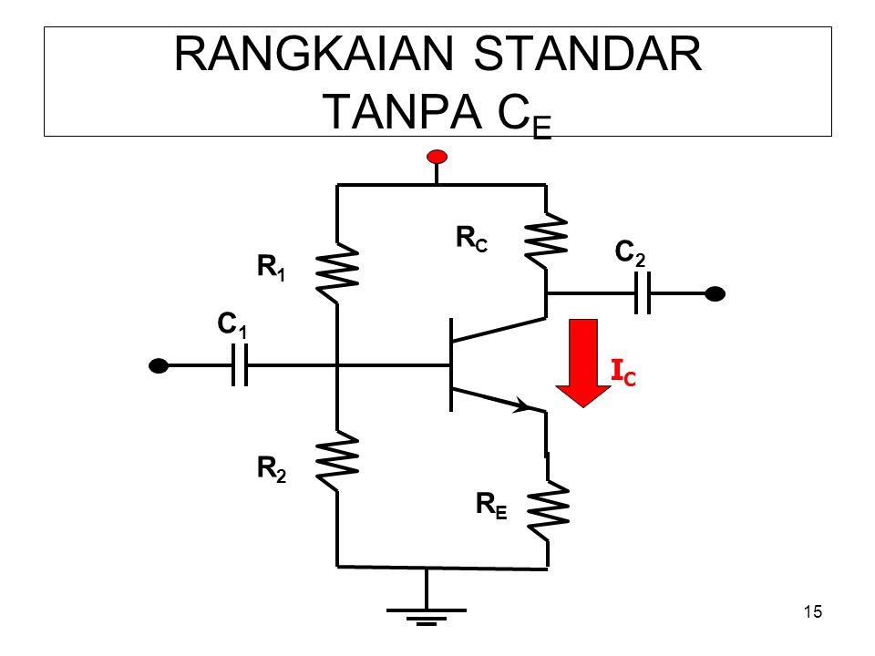 15 RANGKAIAN STANDAR TANPA C E R1R1 RERE R2R2 RCRC C1C1 C2C2 ICIC