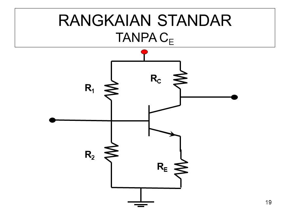 19 RANGKAIAN STANDAR TANPA C E R1R1 RERE R2R2 RCRC