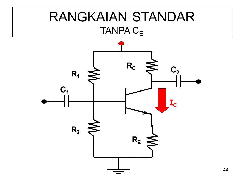 44 RANGKAIAN STANDAR TANPA C E R1R1 RERE R2R2 RCRC C1C1 C2C2 ICIC